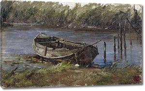 Аэс Карлос де. Лодка в озере Голландии