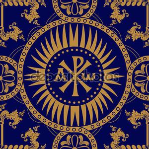 Классической православной бесшовный фон