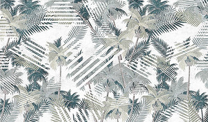 Узор из отпечатков листьев