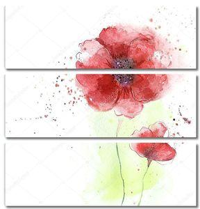 Стилизованные цветы мака