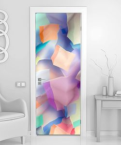 Разноцветные полупрозрачные кубы