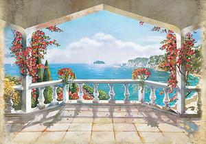 Вид с прекрасной террасы на море