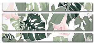 Колокольчики с пальмовыми листьями