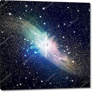 Космическое изображение галактики