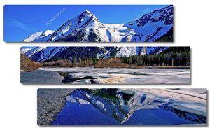 Замерзшее озеро  Аляски