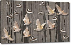 Фарфоровые летящие голуби