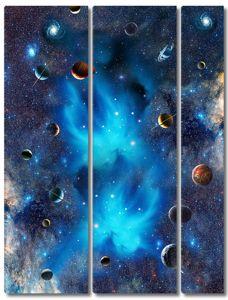 Планеты и две галактики