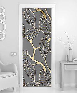 Контуры листьев золотым цветом