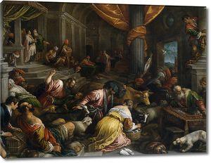 Бассано Франческо. Изгнание торговцев из храма