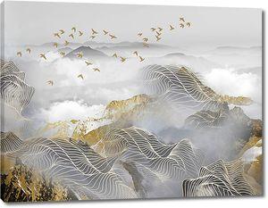 Графические линии по хребтам гор