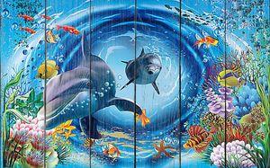 Дельфины в туннеле