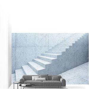 интерьер пустого бетона, 3d рендеринг