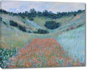 Моне Клод. Маковое поле в ложбине близ Живерни, 1885