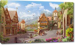 Две старинные европейские улочки в горах