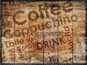 Виды кофе фона