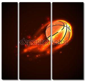 Баскетбол на огне. Вектор