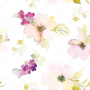 Акварельный цветочный образец