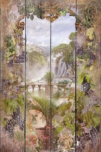 Абстрактная арка и водопад