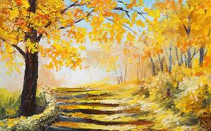 Осень. Дорожка в лесу