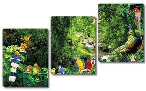 Разноцветие птиц