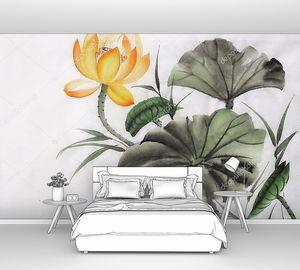 Акварельная живопись Лотос желтый цветок