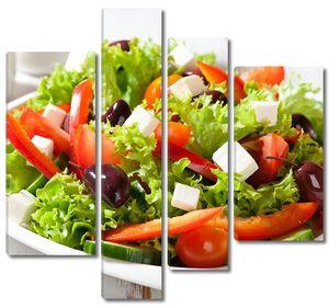 Большая тарелка греческого салата