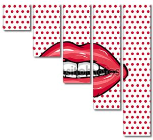 Сладкая пара глянцевых векторных губ