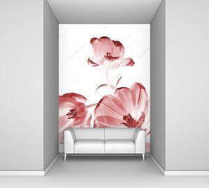 Три розовых бутона