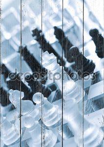 Черно-белые куски шахматы