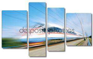 Скоростной поезд в пути
