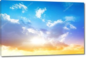 Красочные небо и восход солнца