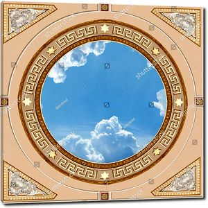 Небо в круге с орнаментом