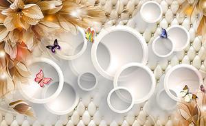 Кольца и цветы на коже