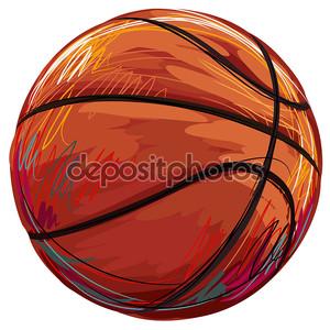 Эскиз баскетбольного мяча