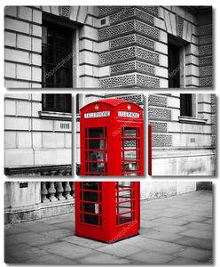 Традиционный старый британский красный телефон