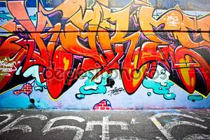 Мельбурн - 29 июня: Улица искусства неопознанных художника. Мельбурн граффити