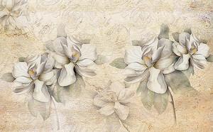 Цветы на песочном фоне