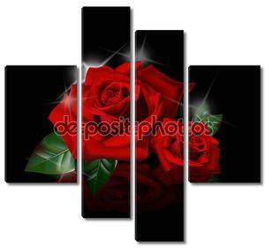 Красивые красные розы