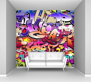 Граффити с яркими надписями