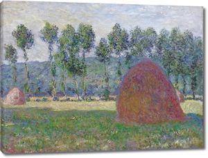 Моне Клод. Стог сена в Живерни, 1885