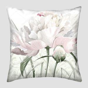 Белый пион цветок и Бад