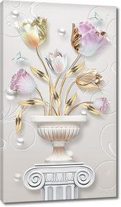 Тюльпаны в вазоне