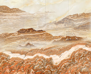 Горные склоны. Имитация на камне