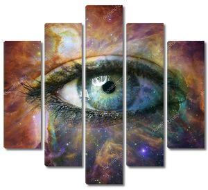 Человеческий глаз, глядя в Вселенной - элементы этого изображения стиле