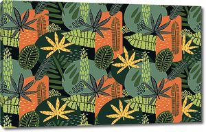Орнамент из африканских растений