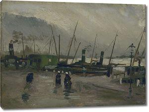 Ван Гог. Набережнаяс кораблямивАнтверпене