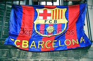 ФК Барселона флаг