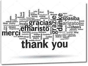 Облако из слов спасибо