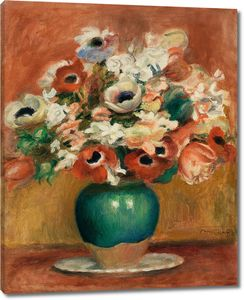 Пьер Огюст Ренуар. Цветы, 1885