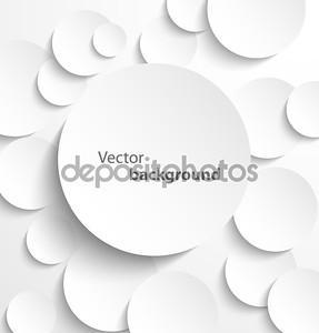 Бумага круги с тенями